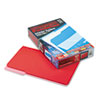 Pendaflex Interior File Folders, 1/3 Cut Top Tab, Legal, Red, 100/Box