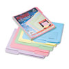 Printed Notes Folders, 1/3 Cut Top Tab, Letter, Assorted, 30/Pack