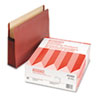 Watershed Seven Inch Expansion File Pocket, Straight Cut, Letter, Red, 5/Box