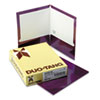 Two-Pocket Laminated Folder, 100-Sheet Capacity, Metallic Purple