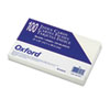Oxford Unruled Index Cards, 5 x 8, White, 100/Pack