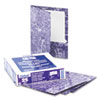 Marble High-Gloss Laminated Paper Portfolio, Purple
