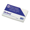 Oxford Ruled Index Cards, 5 x 8, White, 100/Pack