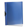 Polypropylene No-Punch Report Cover, Letter, Holds 50 Pages, Clear/Dark Blue