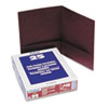 Twin-Pocket Linen Paper Portfolio, Burgundy