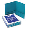 Twin-Pocket Linen Paper Portfolio, Teal