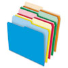 Pendaflex Stretch Tab File Folders, 1/2 Cut Tabs, Letter, Assorted, 100/Box