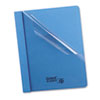 "Clear Front Report Cover, Tang Clip, Letter, 1/2"" Capacity, Blue, 25/Box"