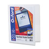 Oxford ViewFolio Polypropylene Portfolio, 50-Sheet Capacity, White/Clear