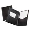 Oxford Poly Double Stuff Gusseted 2-Pocket Folder, 200-Sheet Capacity Black