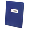 Report Cover, Title Window, 3 Fasteners, Letter, Royal Blue, 25/Box