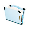 Pendaflex Pressboard Hanging Classification Folder w/Dividers, Four-Section, Letter, Blue