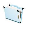 Pendaflex Pressboard Hanging Classi-Folder, 1 Divider/4-Sections, Letter, Lt. Blue