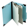 Pendaflex Pressboard Hanging Classi-Folder, 2 Divider/6-Sections, Letter, Lt. Blue