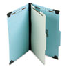 Pendaflex Pressboard Hanging Classi-Folder, 1 Divider/4-Sections, Legal, Lt. Blue