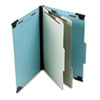 Pendaflex Pressboard Hanging Classi-Folder, 2 Divider/6-Sections, Legal, Lt. Blue