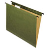 Hanging File Folders, Letter, Green, 20/Box