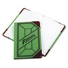 Miniature Account Book, Green/Red Canvas Cover, 208 Pages, 9 1/2 x 6