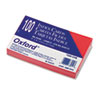 Oxford Unruled Index Cards, 3 x 5, Cherry, 100/Pack