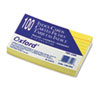 Oxford Ruled Index Cards, 3 x 5, Canary, 100/Pack