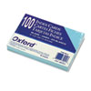 Oxford Unruled Index Cards, 4 x 6, Blue, 100/Pack