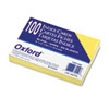 Oxford Unruled Index Cards, 4 x 6, Canary, 100/Pack