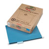 Earthwise 100% Recycled Paper Hanging Folders, Letter, Blue, 25/Box