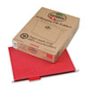 Earthwise 100% Recycled Paper Hanging Folders, Letter, Red, 25/Box
