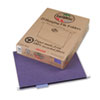 Earthwise 100% Recycled Paper Hanging Folders, Kraft, Letter, Violet, 25/Box