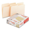 File Folders, 1/2 Cut, Top Tab, Letter, Manila, 100/Box