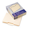 File Folders, 1/3 Cut, Second Position, Top Tab, Letter, Manila, 100/Box