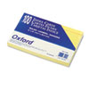 Oxford Ruled Index Cards, 5 x 8, Canary, 100/Pack