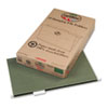Earthwise 100% Recycled Paper Hanging Folders, Kraft, Legal, Green, 25/Box