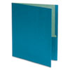 Earthwise 100% Recycled Paper Twin-Pocket Portfolio, Blue