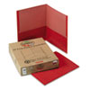 Earthwise by Oxford Earthwise 100% Recycled Paper Twin-Pocket Portfolio, Red