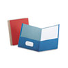 Earthwise by Oxford Earthwise 100% Recycled Paper Twin-Pocket Portfolio, Assorted Colors, 25/Box