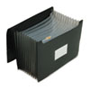 Jumbo 12 Inch Expansion File, 13 Pockets, Poly, Letter, Black