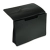Five Inch Expanding Portfolio, One Pocket, Poly, Legal, Black