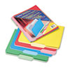 Two-Tone File Folders, 1/3 Cut Top Tab, Letter, Assorted Colors, 24/Pack