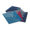 Pendaflex ViewFront Poly Booklet Envelope, Side Opening, 11 x 9 1/2, 3 Colors, 4/Pack