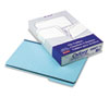 Pressboard Expanding File Folders, 1/3 Cut Top Tab, Legal, Blue, 25/Box