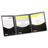 Oxford Five-Pocket Folder, 3 Panels, Title Pocket, 400-Sheet Capacity, Black/Charcoal