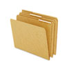 Kraft Angled Tab File Folders, 1/3 Cut Top Tab, Letter, Brown, 50/Box