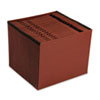 100% Recycled Paper, Daily, Expanding File, 21 Pocket, Red Fiber, Letter, Red