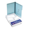 Two-Fastener Pressboard Expanding Folder with 1/3 Cut Tab, Legal, Blue, 25/Box