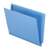 Two-Ply Expansion Folder, Two Fasteners, End Tab, Letter, Blue, 50/Box