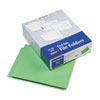 Two-Ply Expansion Folders, Two Fasteners, End Tab, Letter, Green, 50/Box