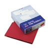 Two-Ply Expansion Folder, Two Fasteners, End Tab, Letter, Red, 50/Box