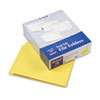 Two-Ply Expansion Folders, Two Fasteners, End Tab, Letter, Yellow, 50/Box