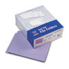 Reinforced End Tab Folders, Two Ply Tab, Letter, Purple,  100/Box
